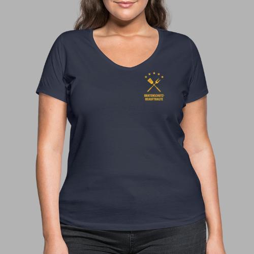 EU Bratenschutz-Beauftragte - Frauen Bio-T-Shirt mit V-Ausschnitt von Stanley & Stella