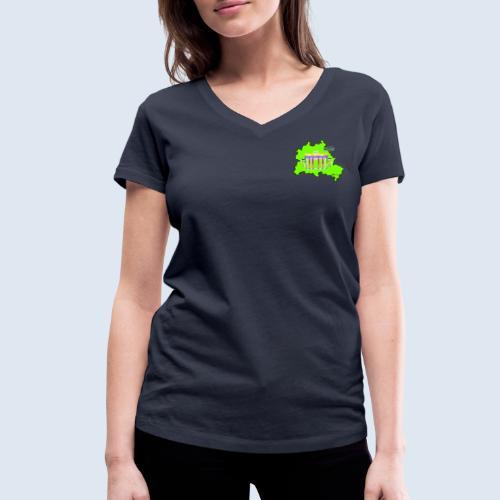"""Berliner Original """"Berlin LightShow"""" Collection - Frauen Bio-T-Shirt mit V-Ausschnitt von Stanley & Stella"""