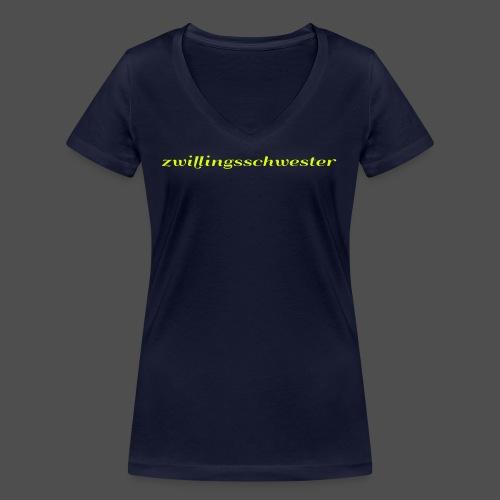 twin sister - Women's Organic V-Neck T-Shirt by Stanley & Stella