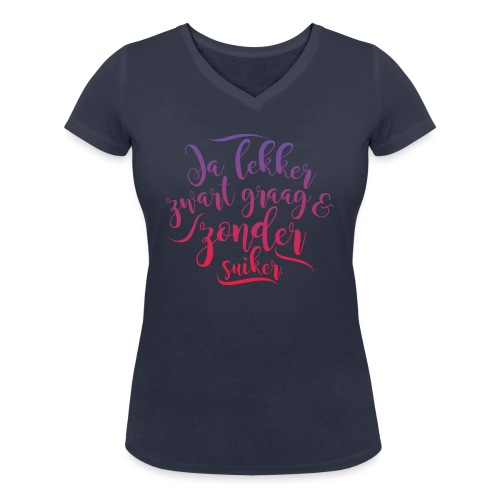 Koffie - Vrouwen bio T-shirt met V-hals van Stanley & Stella