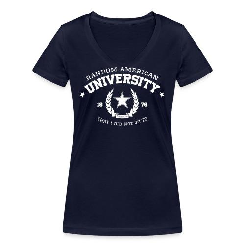 Random University - Vrouwen bio T-shirt met V-hals van Stanley & Stella