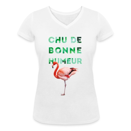 Pl_tshirt_typo flamand_40 - T-shirt bio col V Stanley & Stella Femme