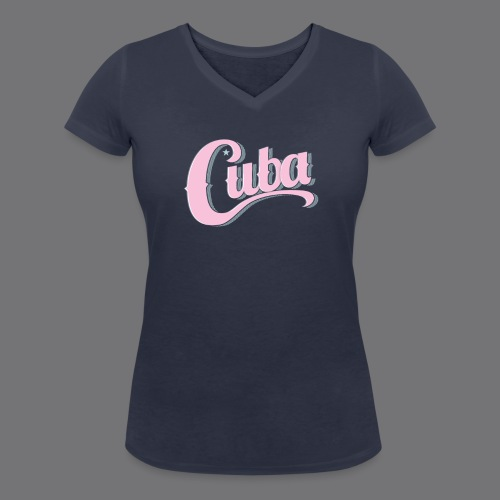 CUBA VINTAGE Tee Shirt - Women's Organic V-Neck T-Shirt by Stanley & Stella