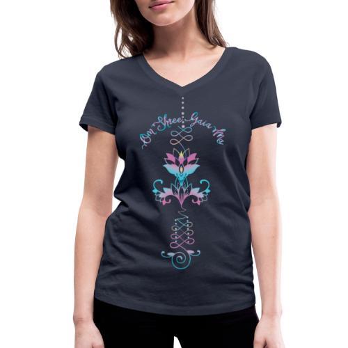 Oneness Om Shree Gaia Ma Verehrung von Mutter Erde - Frauen Bio-T-Shirt mit V-Ausschnitt von Stanley & Stella