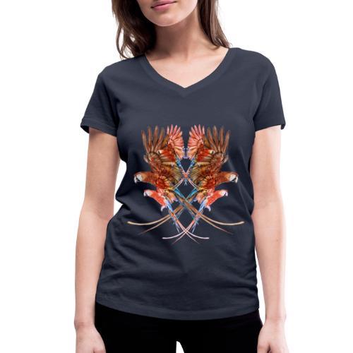 pappagalli - T-shirt ecologica da donna con scollo a V di Stanley & Stella