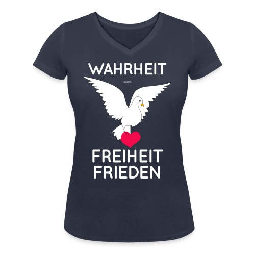 Wahrheit, Freiheit, Frieden - Frauen Bio-T-Shirt mit V-Ausschnitt von Stanley & Stella