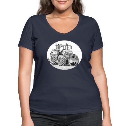 Ackergigant - Frauen Bio-T-Shirt mit V-Ausschnitt von Stanley & Stella