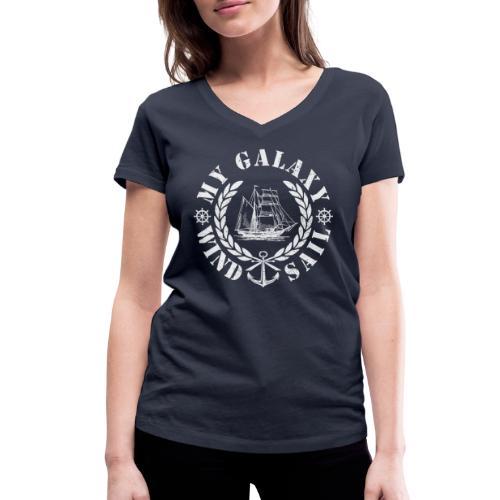 MY GALAXY - Women's Organic V-Neck T-Shirt by Stanley & Stella