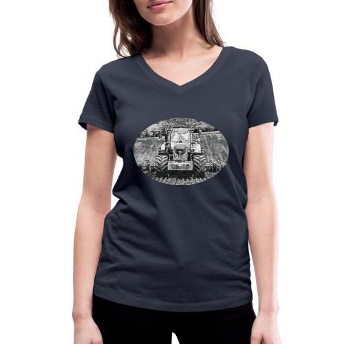 Ackerschlepper - Frauen Bio-T-Shirt mit V-Ausschnitt von Stanley & Stella
