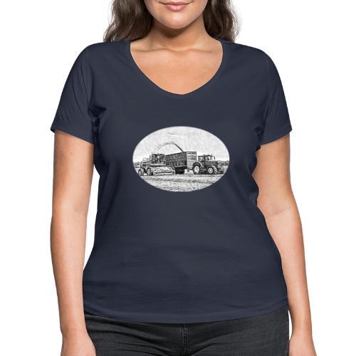 Sillageernte - Frauen Bio-T-Shirt mit V-Ausschnitt von Stanley & Stella