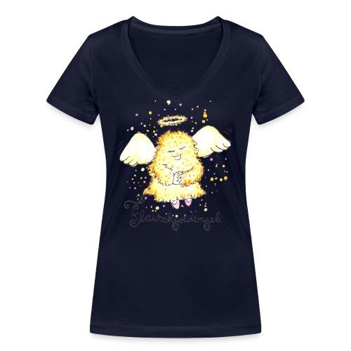 Flauschgoldengel - Frauen Bio-T-Shirt mit V-Ausschnitt von Stanley & Stella