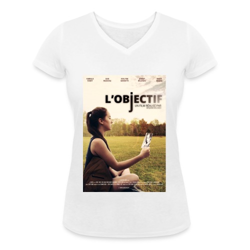 Affiche Film L'Objectif - T-shirt bio col V Stanley & Stella Femme