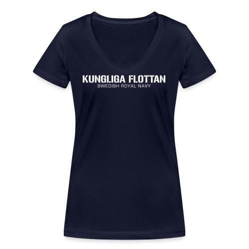 Kungliga Flottan - Swedish Royal Navy - Ekologisk T-shirt med V-ringning dam från Stanley & Stella