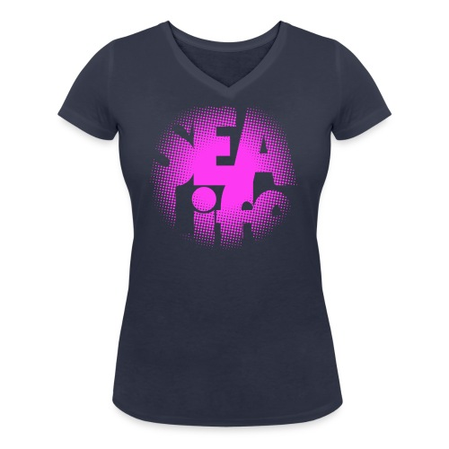 Sealife surfing tees, clothes and gifts FP24R01B - Stanley & Stellan naisten v-aukkoinen luomu-T-paita