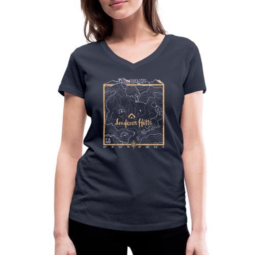 Laufener Hütte im Tennengebirge - Taco Yellow - Women's Organic V-Neck T-Shirt by Stanley & Stella