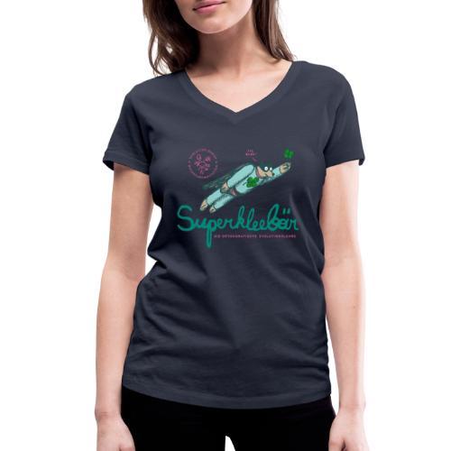 Der Superkleebär - Frauen Bio-T-Shirt mit V-Ausschnitt von Stanley & Stella