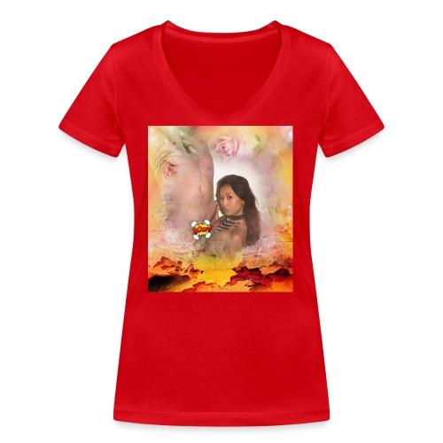 Herbstsinfonie - Frauen Bio-T-Shirt mit V-Ausschnitt von Stanley & Stella