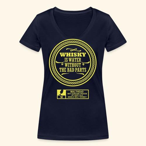 Whisky is water - Frauen Bio-T-Shirt mit V-Ausschnitt von Stanley & Stella