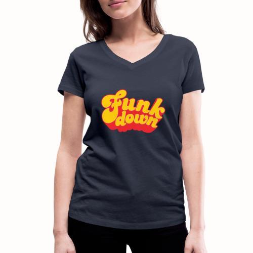 Funkdown Official Merchandise - Økologisk Stanley & Stella T-shirt med V-udskæring til damer