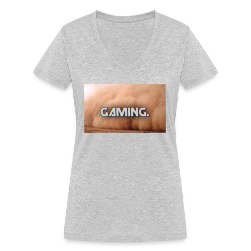 GamingDust LOGO - Women's Organic V-Neck T-Shirt by Stanley & Stella