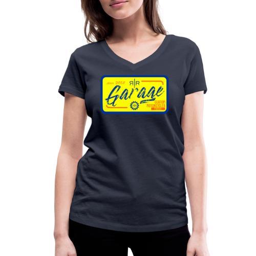 RR Garage Custom motorcycles Firenze - T-shirt ecologica da donna con scollo a V di Stanley & Stella