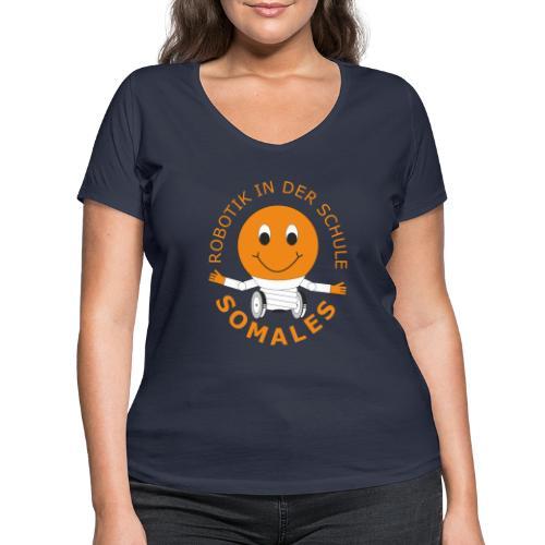 SOMALES - Robotik in der Schule - Frauen Bio-T-Shirt mit V-Ausschnitt von Stanley & Stella