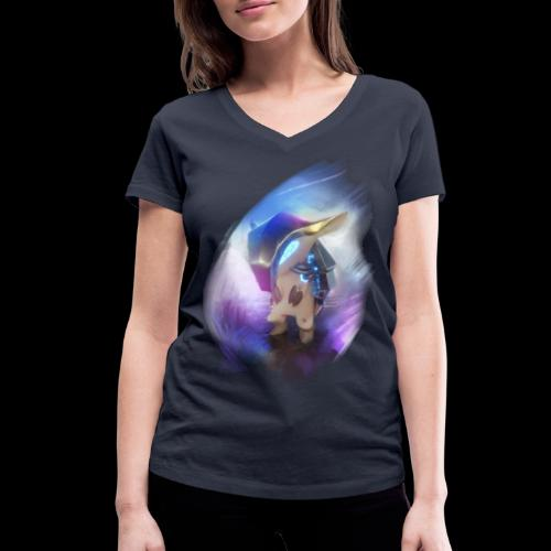 Polarities Armadillo - Women's Organic V-Neck T-Shirt by Stanley & Stella