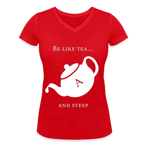 hmmn - Women's Organic V-Neck T-Shirt by Stanley & Stella
