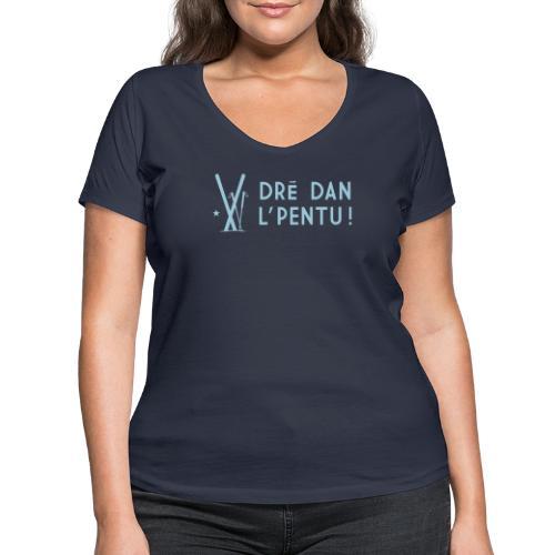 Dré dan l'pentu - Ski - T-shirt bio col V Stanley & Stella Femme