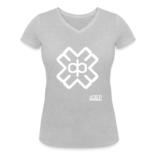 July D3EP Blue Tee - Women's Organic V-Neck T-Shirt by Stanley & Stella