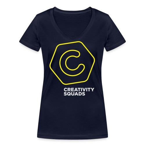 CreativitySquads 002 - Stanley & Stellan naisten v-aukkoinen luomu-T-paita