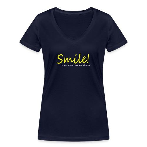 Smile for Sex - Frauen Bio-T-Shirt mit V-Ausschnitt von Stanley & Stella
