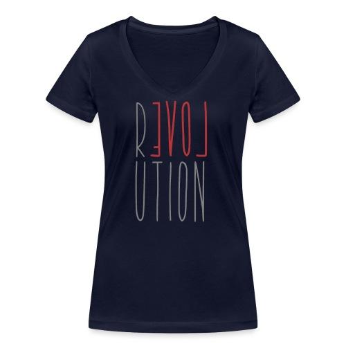 Love Peace Revolution - Liebe Frieden Statement - Frauen Bio-T-Shirt mit V-Ausschnitt von Stanley & Stella