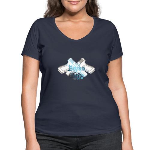 Borko - Ekologiczna koszulka damska z dekoltem w serek Stanley & Stella