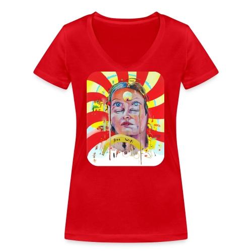 in the city of the future - Vrouwen bio T-shirt met V-hals van Stanley & Stella