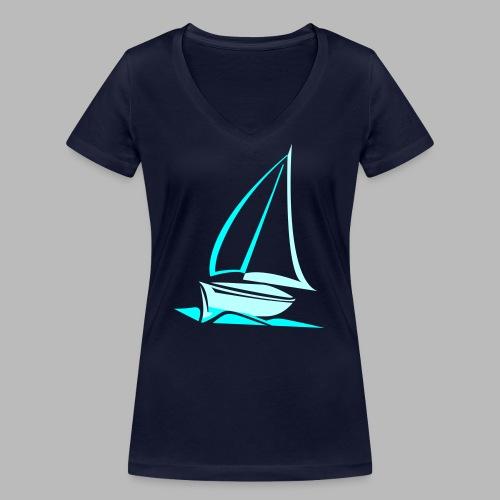 segelyacht - Frauen Bio-T-Shirt mit V-Ausschnitt von Stanley & Stella