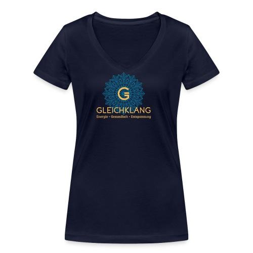 Logo Gleichklang bg-blau - Frauen Bio-T-Shirt mit V-Ausschnitt von Stanley & Stella