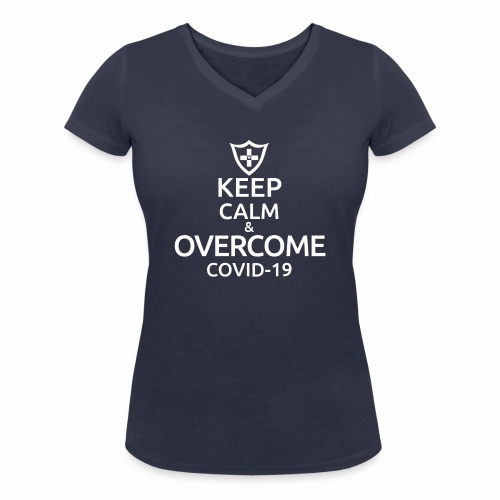 Keep calm and overcome - Ekologiczna koszulka damska z dekoltem w serek Stanley & Stella