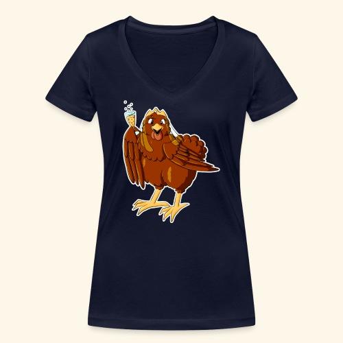 Hen Night - Frauen Bio-T-Shirt mit V-Ausschnitt von Stanley & Stella