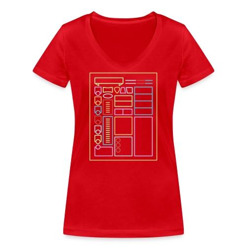 Dnd-merkkilehti - DnD Dungeons & Dragons D & D - Stanley & Stellan naisten v-aukkoinen luomu-T-paita