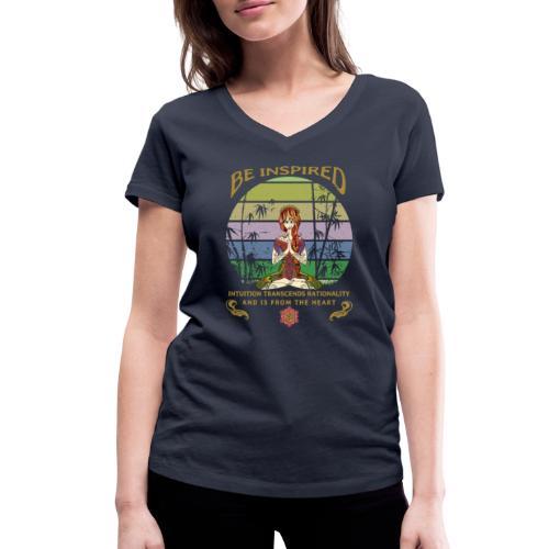 Lass dich inspirieren und folge deiner Intuition - Frauen Bio-T-Shirt mit V-Ausschnitt von Stanley & Stella
