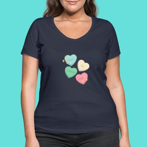 C'est ça l'amour, love - T-shirt bio col V Stanley & Stella Femme