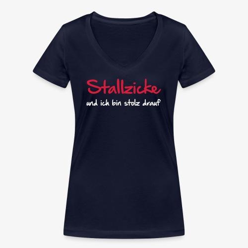 Vorschau: Stallzicke - Frauen Bio-T-Shirt mit V-Ausschnitt von Stanley & Stella
