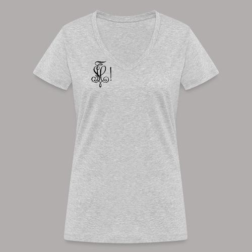Zirkel, schwarz (vorne) - Frauen Bio-T-Shirt mit V-Ausschnitt von Stanley & Stella