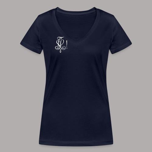 Zirkel, weiss (vorne) - Frauen Bio-T-Shirt mit V-Ausschnitt von Stanley & Stella