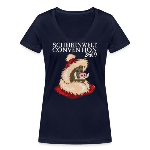 Scheibenwelt Convention 2019 - Schneevater - Frauen Bio-T-Shirt mit V-Ausschnitt von Stanley & Stella