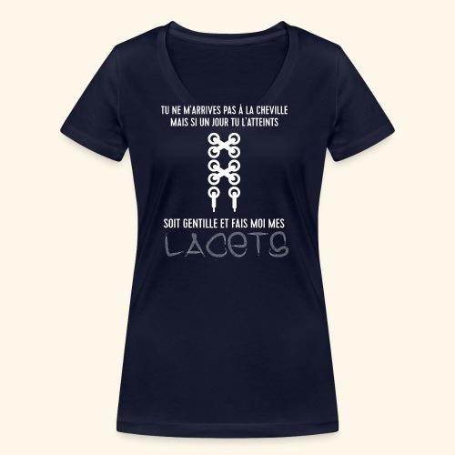 cheville et lacets - T-shirt bio col V Stanley & Stella Femme