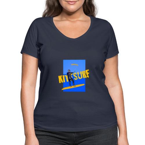 KITESURF HOMME - T-shirt bio col V Stanley & Stella Femme