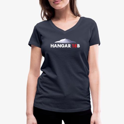 UFO mit Hangar18b Schriftzug - Frauen Bio-T-Shirt mit V-Ausschnitt von Stanley & Stella