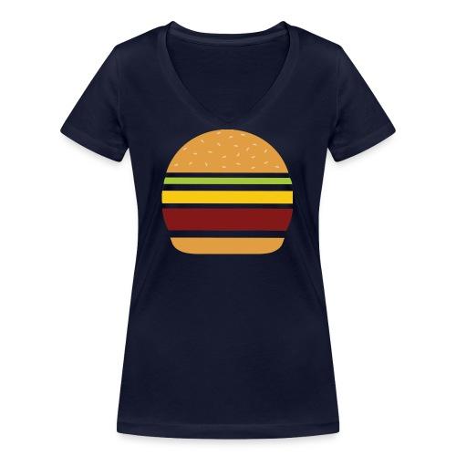 Logo Burger Panhamburger - T-shirt bio col V Stanley & Stella Femme